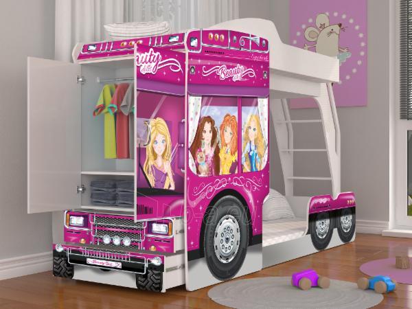 Vaikiška Dviaukštė Lova Mega Truck Paveikslėlis 5 iš 11 310820178328