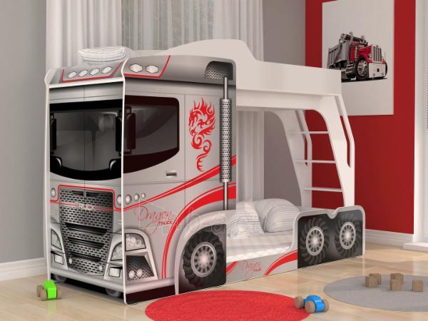Vaikiška Dviaukštė Lova Mega Truck Paveikslėlis 1 iš 11 310820178328