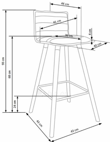 Baro kėdė H-85 Paveikslėlis 7 iš 9 310820179519