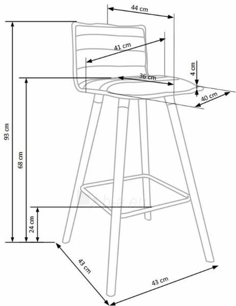Baro kėdė H-85 Paveikslėlis 9 iš 9 310820179519