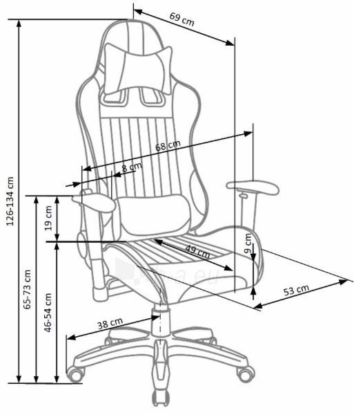 Žaidimų kėdė DEFENDER 2 juoda/oranžinė Paveikslėlis 2 iš 2 310820179701