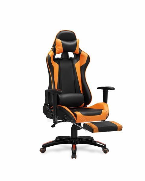 Žaidimų kėdė DEFENDER 2 juoda/oranžinė Paveikslėlis 1 iš 2 310820179701