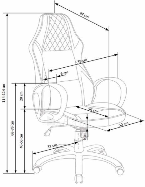 Biuro kėdė DODGER Paveikslėlis 4 iš 10 310820179703