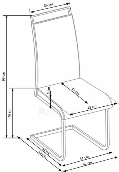 Valgomojo kėdė K348 Paveikslėlis 2 iš 2 310820182454