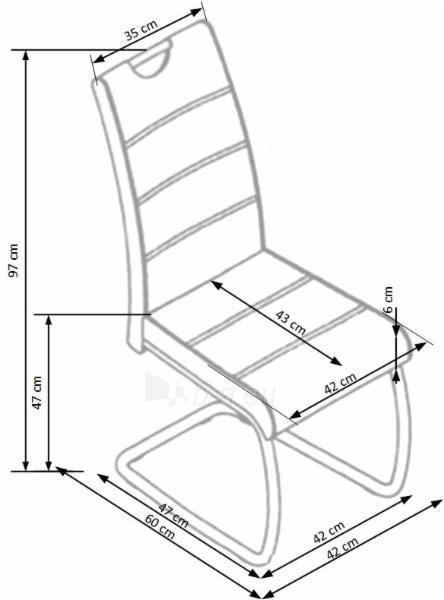 Valgomojo kėdė K349 Paveikslėlis 2 iš 2 310820182456