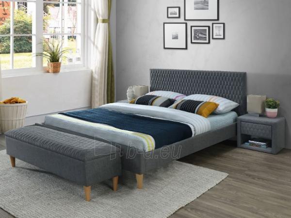 Miegamojo lova Azurro 160 pilka Paveikslėlis 1 iš 1 310820183477