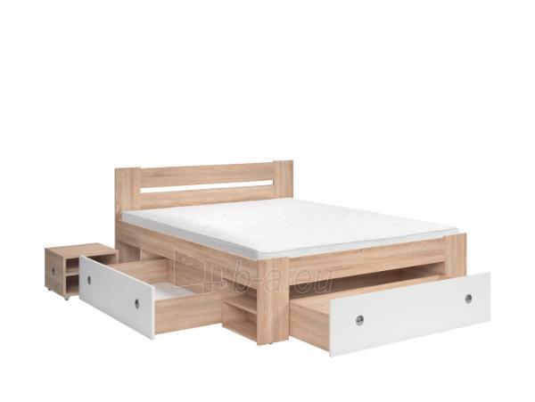 Miegamojo lova Stefan 160 sonoma Paveikslėlis 3 iš 3 310820185161