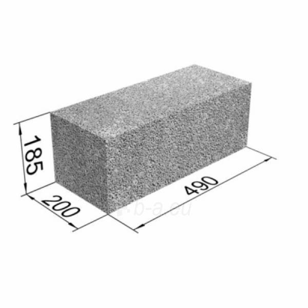 Blokai 'Fibo Proof', 490x185x200, 5 MPa Paveikslėlis 1 iš 2 310820191676