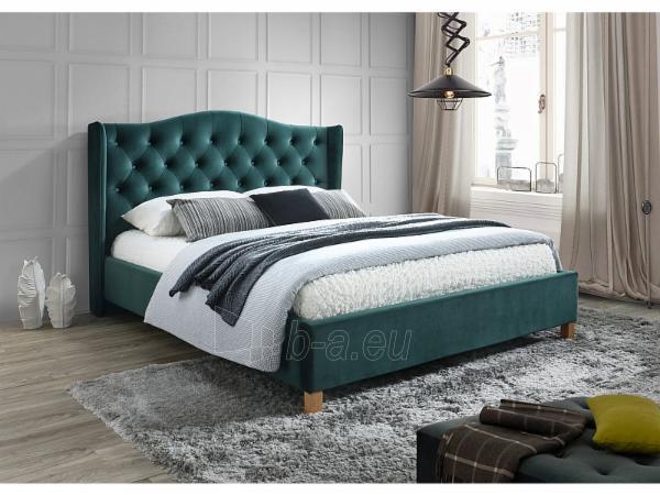 Miegamojo lova Aspen 160 aksomas žalia Paveikslėlis 2 iš 2 310820196283