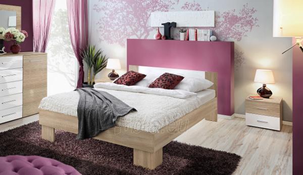 Miegamojo lova Vicky 140 sonoma/balta Paveikslėlis 1 iš 2 310820206138