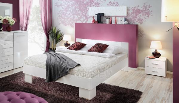 Miegamojo lova Vicky 160 balta Paveikslėlis 1 iš 2 310820206141