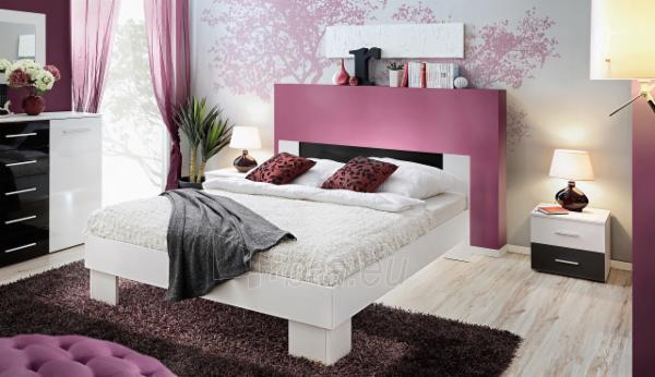 Miegamojo lova Vicky 160 balta/juoda Paveikslėlis 1 iš 2 310820206185