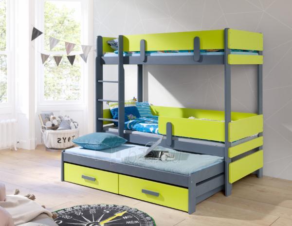Vaikiška trivietė lova ETTORE III Paveikslėlis 1 iš 3 310820207173
