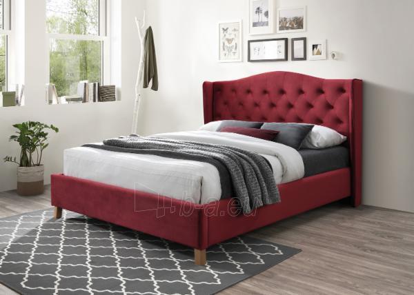 Miegamojo lova Aspen 160 aksomas bordo Paveikslėlis 1 iš 2 310820208287