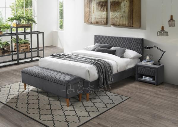 Miegamojo lova Azurro 160 aksomas pilka Paveikslėlis 1 iš 1 310820208293