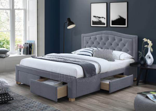 Miegamojo lova Electra 160 aksomas Paveikslėlis 2 iš 2 310820208298