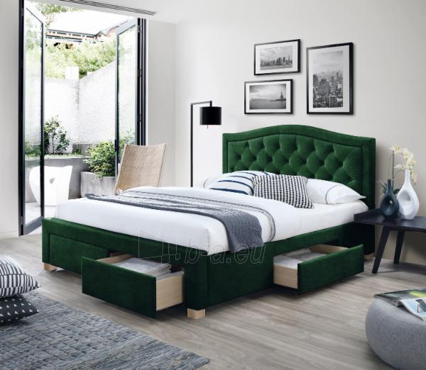 Miegamojo lova Electra 160 aksomas Paveikslėlis 1 iš 2 310820208298