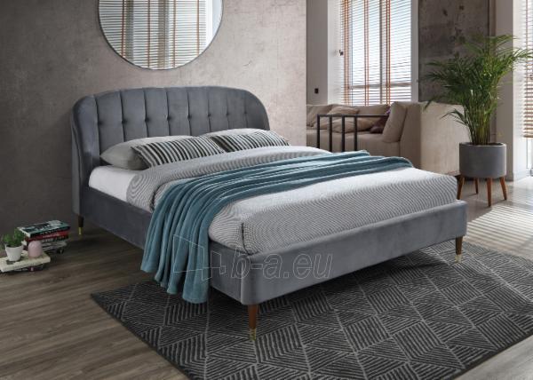 Miegamojo lova Liguria 160 aksomas Paveikslėlis 2 iš 2 310820208301