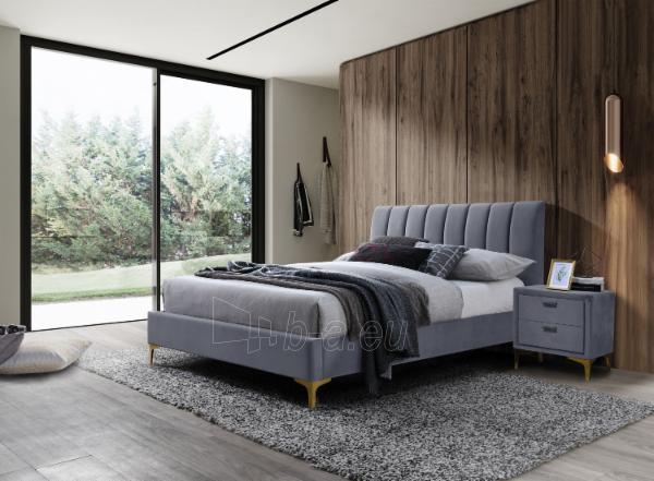Miegamojo lova Mirage 160 aksomas Paveikslėlis 2 iš 2 310820208305