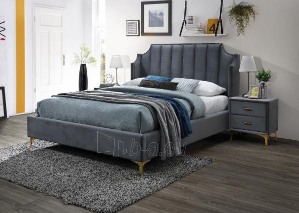 Miegamojo lova Monako 160 aksomas Paveikslėlis 2 iš 2 310820208309