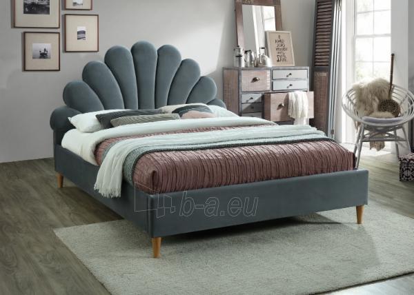 Miegamojo lova Santana 160 aksomas Paveikslėlis 3 iš 3 310820208311