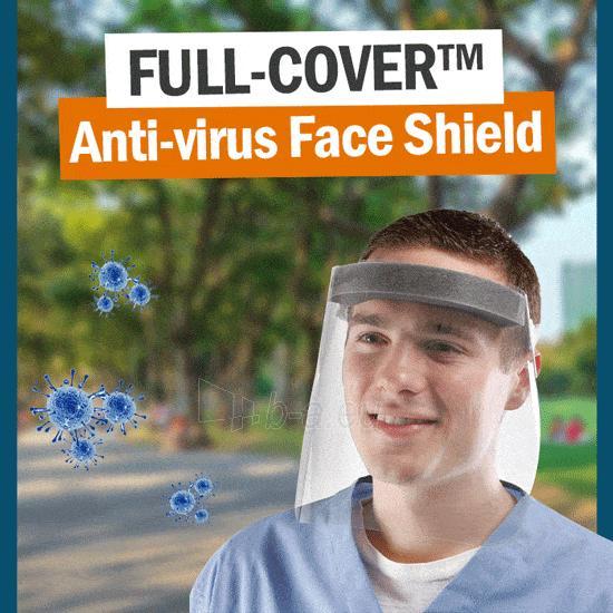 Apsauginis veido skydelis FULL COVER, 290x250 Paveikslėlis 2 iš 5 310820209883