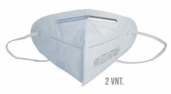 Apsauginė veido kaukė-respiratorius FFP2 (KN95) 2vnt Paveikslėlis 1 iš 9 310820210301