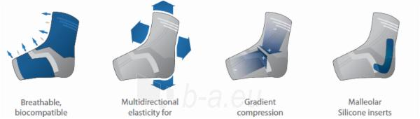 Tekstilinis čiurnos įtvaras Malolax su silikoniniu paminkštinimu Paveikslėlis 3 iš 3 310820218465