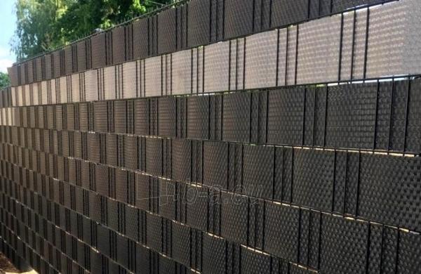 Juosta segmentinėms tvoroms 19x255cm, Pilkos spalvos Paveikslėlis 2 iš 7 310820230744