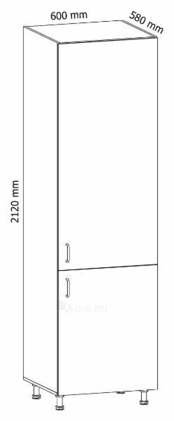 Pastatoma spintelė įmontuojamam šaldytuvui Linea D60ZL Paveikslėlis 3 iš 3 310820243121