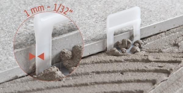 3D apkabos (1 mm) plytelėms 3-12 mm storio, 100 vnt. Paveikslėlis 2 iš 4 2377540000001