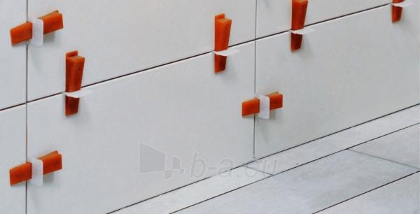 3D apkabos (1 mm) plytelėms 3-12 mm storio, 100 vnt. Paveikslėlis 4 iš 4 2377540000001