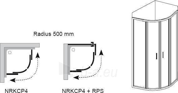 3L3A0U00YG NRKCP4-100 SATIN-GRAPE, dušo kabina Paveikslėlis 2 iš 2 270730001164