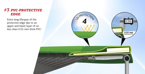 430cm Batutas su apsauginiu tinklu BERG Favorit Comfort Levels Gray (iki 600kg) Paveikslėlis 6 iš 7 310820176355