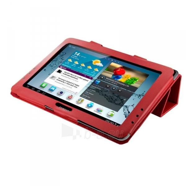 4World dėklas-stovas skirtas Galaxy Tab 2, Folded Case, 10, raudonas Paveikslėlis 1 iš 5 310820014264