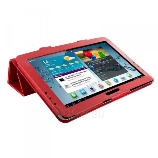 4World dėklas-stovas skirtas Galaxy Tab 2, Folded Case, 10, raudonas Paveikslėlis 2 iš 5 310820014264