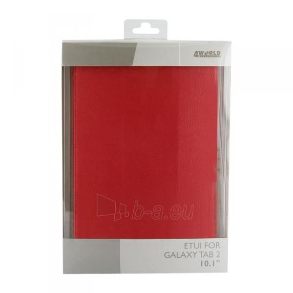 4World dėklas-stovas skirtas Galaxy Tab 2, Folded Case, 10, raudonas Paveikslėlis 5 iš 5 310820014264