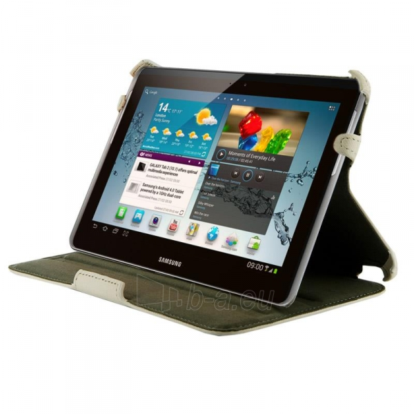 4World dėklas-stovas skirtas Galaxy Tab 2, nepralaidus vandeniui, 7, baltas Paveikslėlis 1 iš 5 310820014252