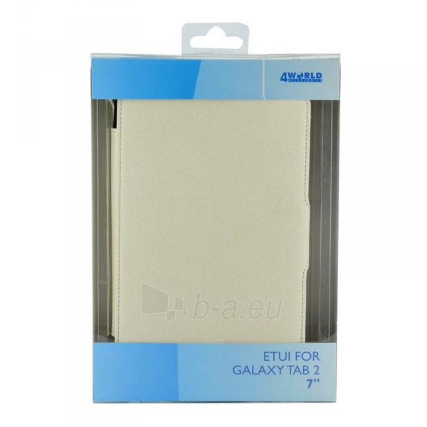 4World dėklas-stovas skirtas Galaxy Tab 2, nepralaidus vandeniui, 7, baltas Paveikslėlis 5 iš 5 310820014252