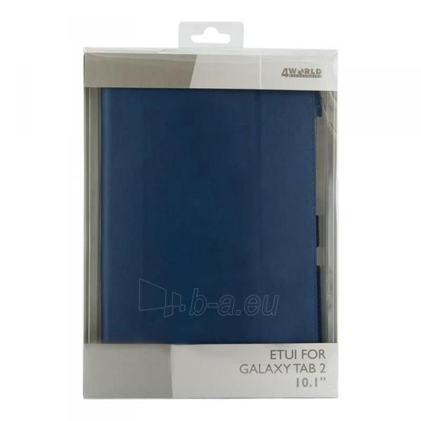 4World dėklas-stovas skirtas Galaxy Tab 2, plonas, 4-Fold Slim, 10, mėlynas Paveikslėlis 5 iš 5 310820014268