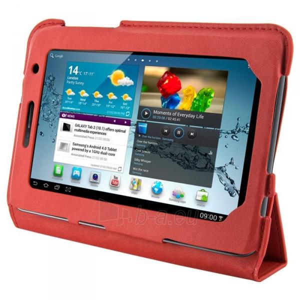 4World dėklas-stovas skirtas Galaxy Tab 2, plonas, 4-Fold Slim, 7, raudonas Paveikslėlis 1 iš 5 310820014250