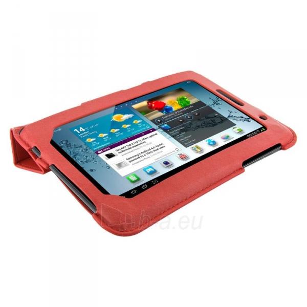 4World dėklas-stovas skirtas Galaxy Tab 2, plonas, 4-Fold Slim, 7, raudonas Paveikslėlis 2 iš 5 310820014250