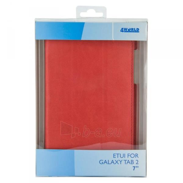 4World dėklas-stovas skirtas Galaxy Tab 2, plonas, 4-Fold Slim, 7, raudonas Paveikslėlis 5 iš 5 310820014250