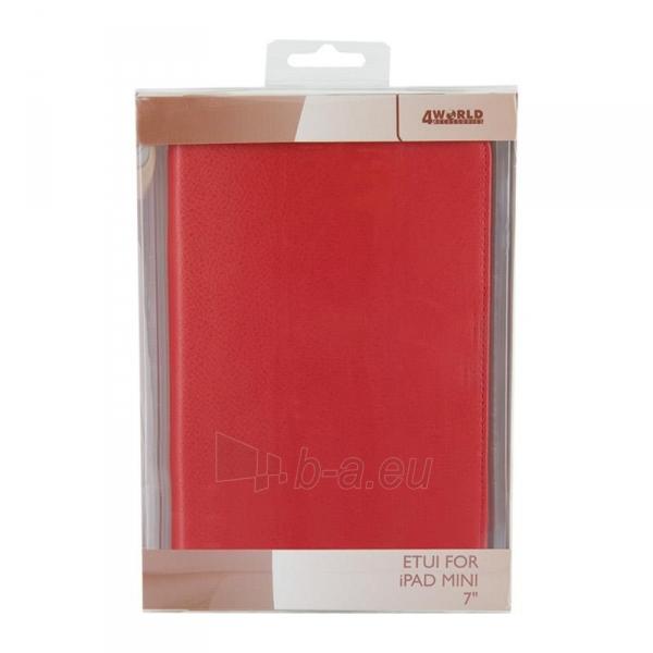 4World dėklas-stovas skirtas iPad Mini2, Folded Case, 7, raudonas Paveikslėlis 5 iš 5 310820014273