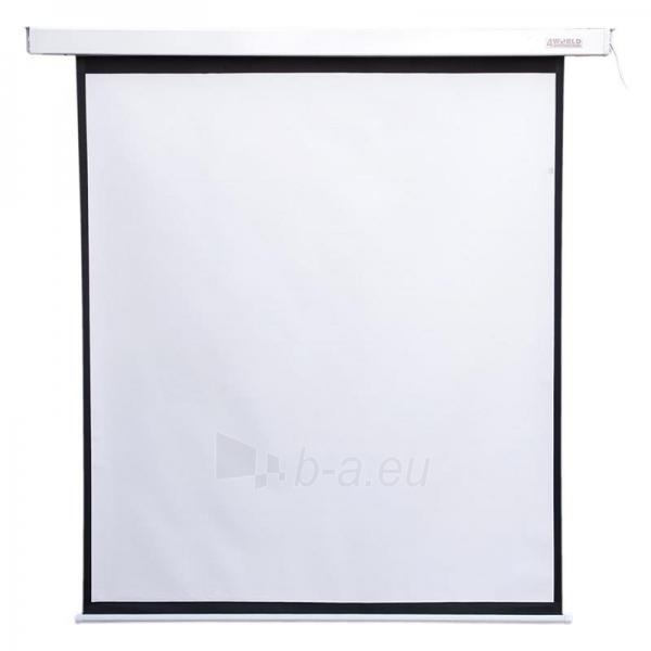 4World Elektrinis projektoriaus ekranas, remote, 140x140 (1:1) Matt White Paveikslėlis 1 iš 9 30058000068
