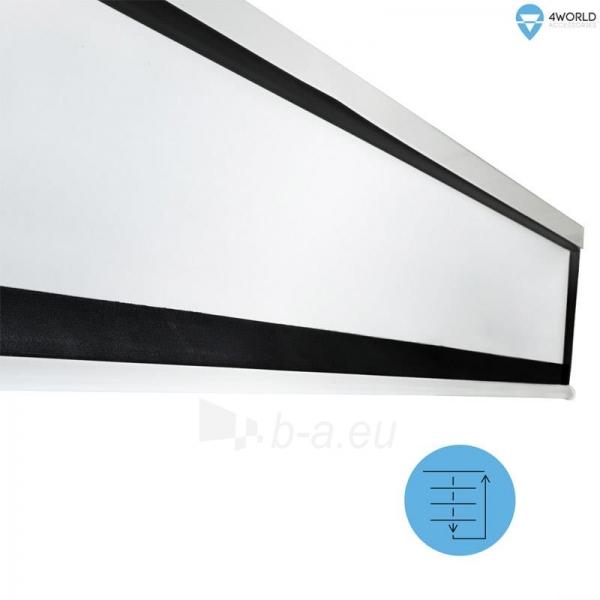 4World Elektrinis projektoriaus ekranas, remote, 140x140 (1:1) Matt White Paveikslėlis 6 iš 9 30058000068