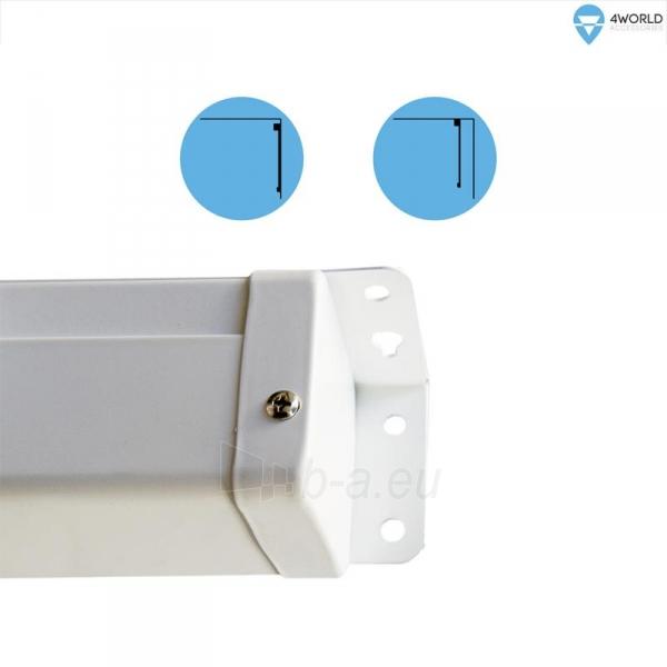 4World Elektrinis projektoriaus ekranas, switch, 221x124 (16:9) Matt White Paveikslėlis 4 iš 8 250224001019