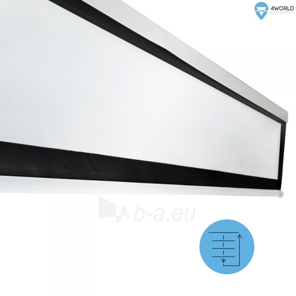 4World Elektrinis projektoriaus ekranas, switch, 221x124 (16:9) Matt White Paveikslėlis 6 iš 8 250224001019