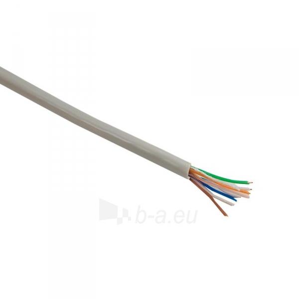 4World Instaliacinis kabelis UTP,4x2, kat.5e,viela 100m, CU-grynas varis, pilkas Paveikslėlis 1 iš 2 250257440041