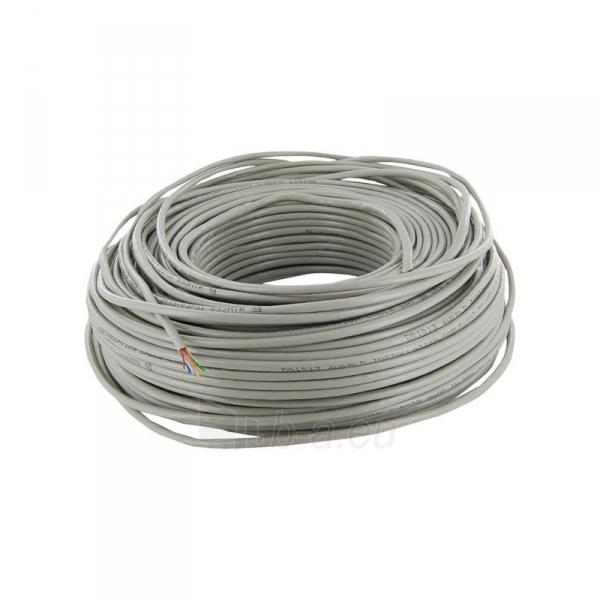 4World Instaliacinis kabelis UTP,4x2, kat.5e,viela 100m, CU-grynas varis, pilkas Paveikslėlis 2 iš 2 250257440041